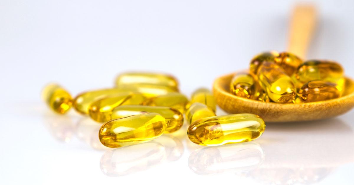 Yellow pill capsules