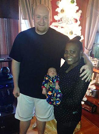 Sharon Edwards' family: Blake, Yvette and baby Jax