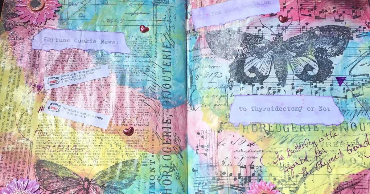 Colorful journal pages