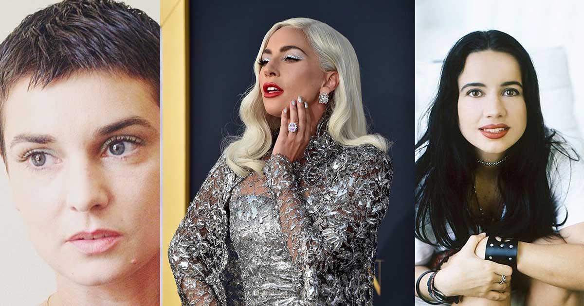 Three celebrities